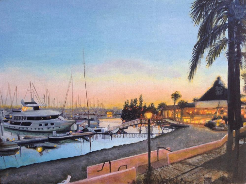 """Balboa at dawn"" original fine art by Karen Stitt"