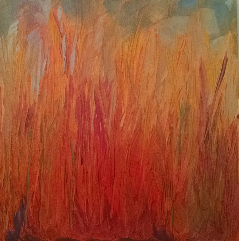 """Spring Grasses"" original fine art by Kathy Fleming"