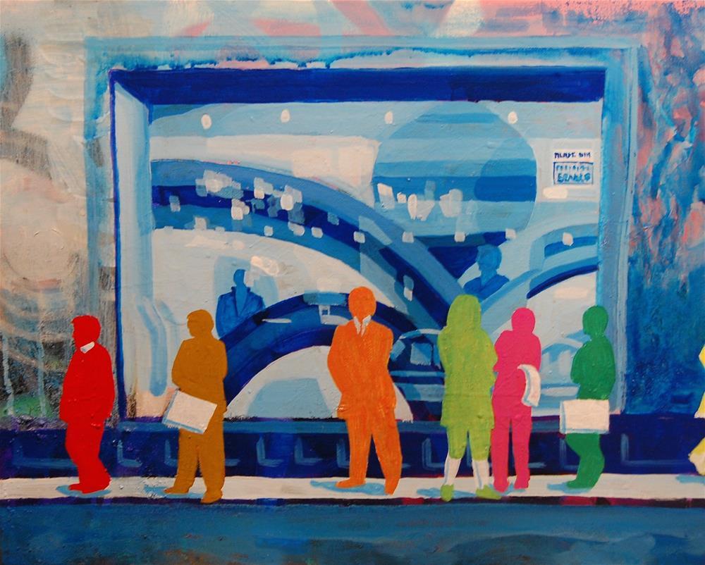 """""""Paris a Fromanger"""" original fine art by michael vigneux"""