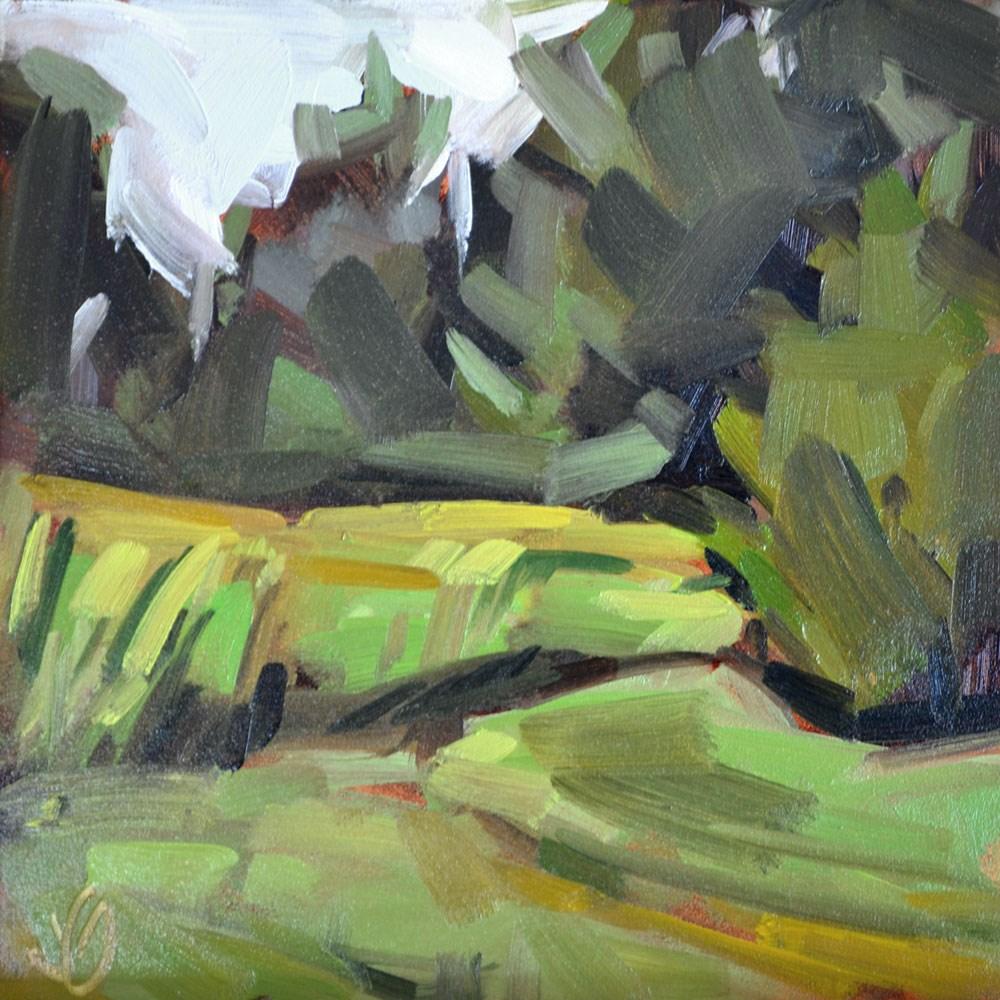 """Backyard II"" original fine art by Jessica Green"
