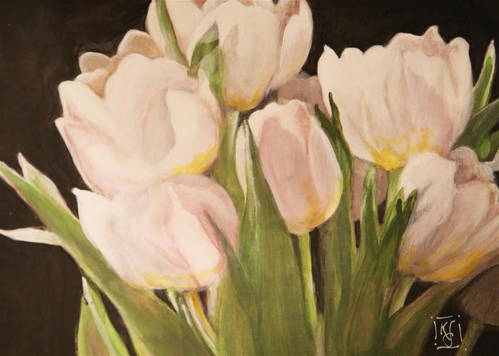 """Tulip Study 1"" original fine art by Kathleen Straube"