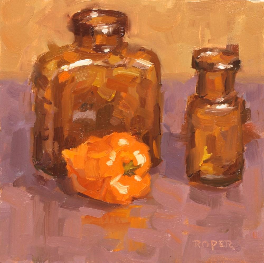 """Habanero with Amber Bottles "" original fine art by Stuart Roper"