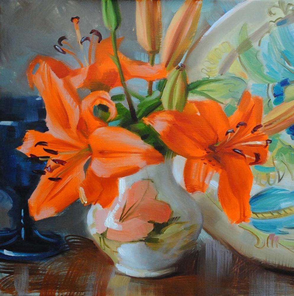 """""""Autumn Lilies"""" original fine art by Elena Katsyura"""