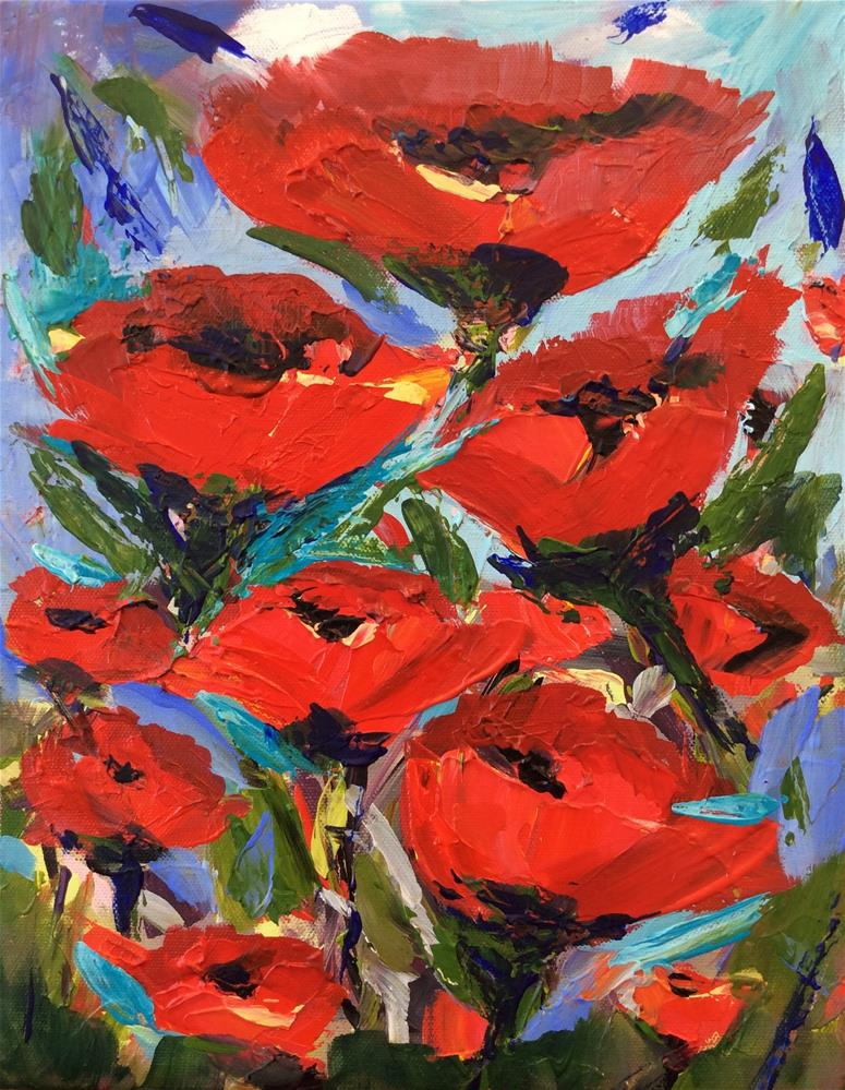 """Poppies #2"" original fine art by Molly Rohrscheib Hathaway"