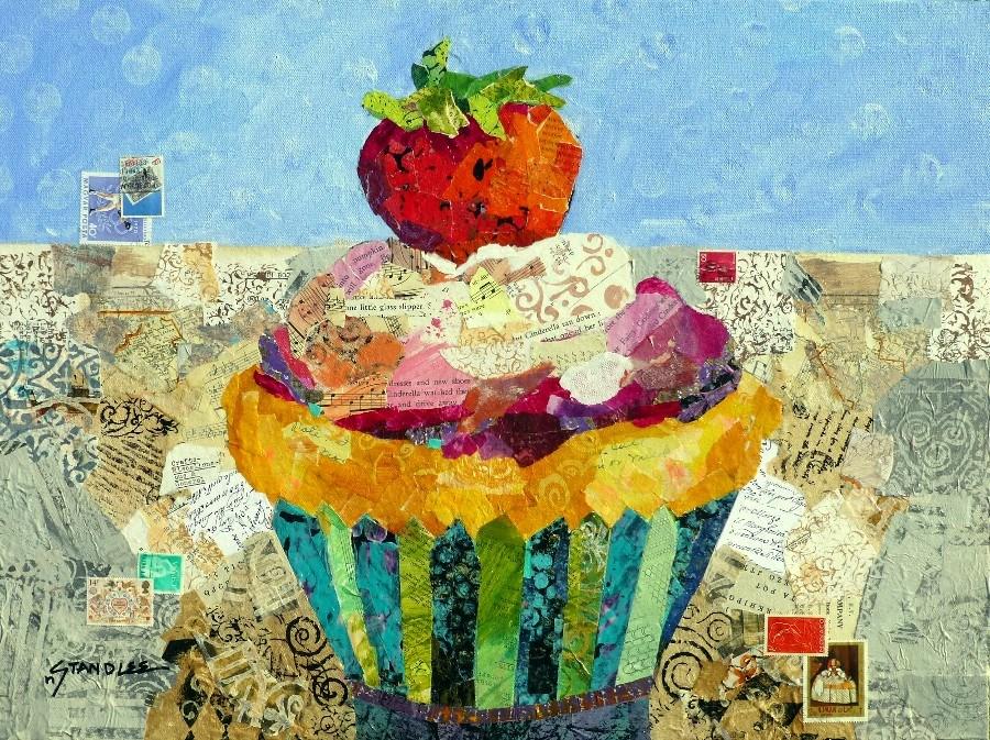 """Cinderella Cupcake: One Little Glass Slipper 13070"" original fine art by Nancy Standlee"