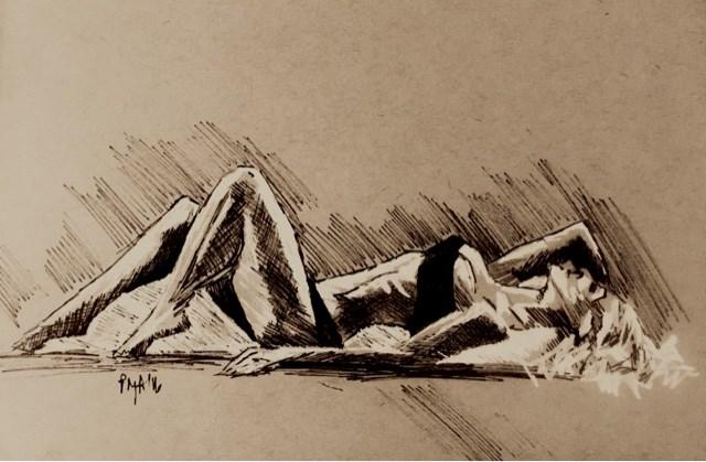 """""""Reclining Woman 7"""" original fine art by Piya Samant"""