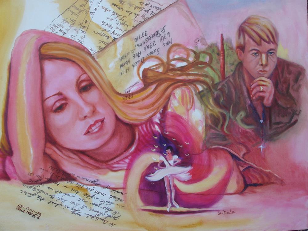 """""""Dreams of a Soldier"""" original fine art by Susan Duda"""