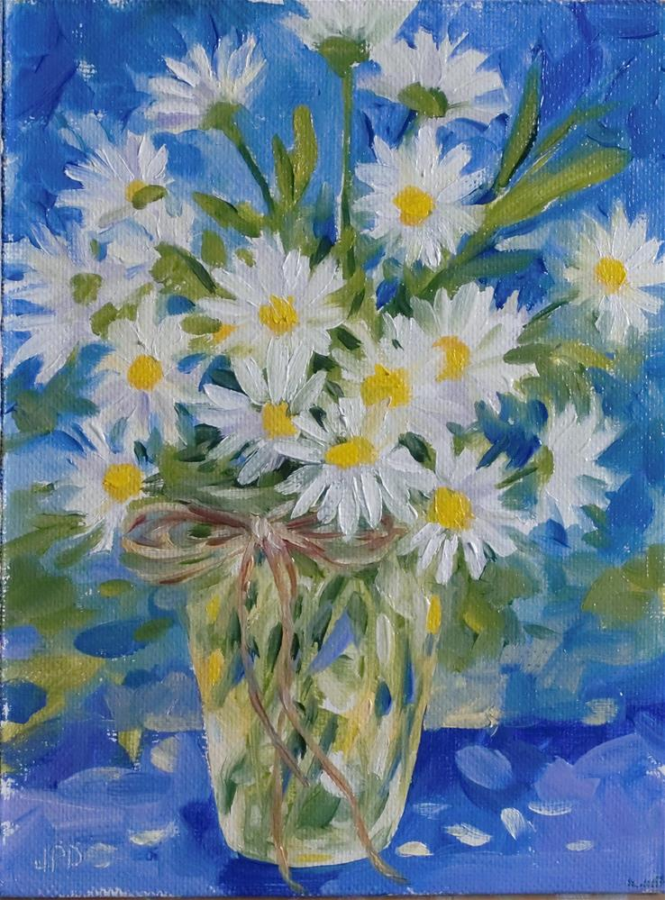 """Bouquet of Daisies"" original fine art by Jean Pierre DeBernay"
