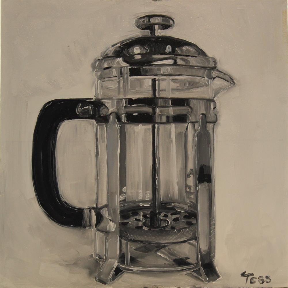 """Black Coffee- Humble Pie"" original fine art by Tess Lehman"