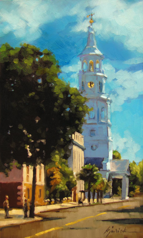 """St. Michael's Tower"" original fine art by Karin Jurick"