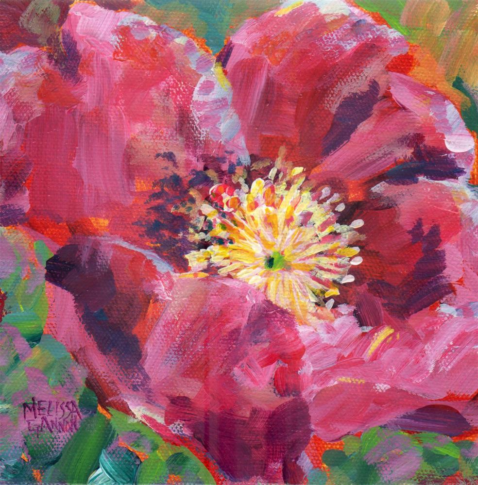 """Shining Rose"" original fine art by Melissa Gannon"