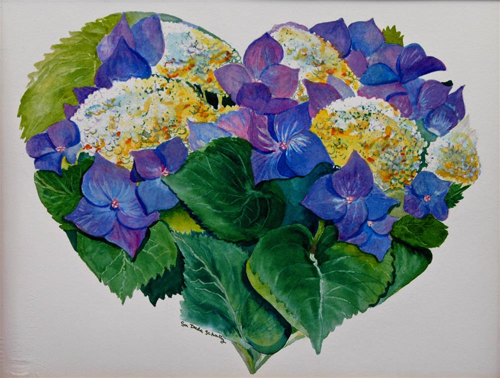 """Heart of Hydrangea"" original fine art by Susan Duda"