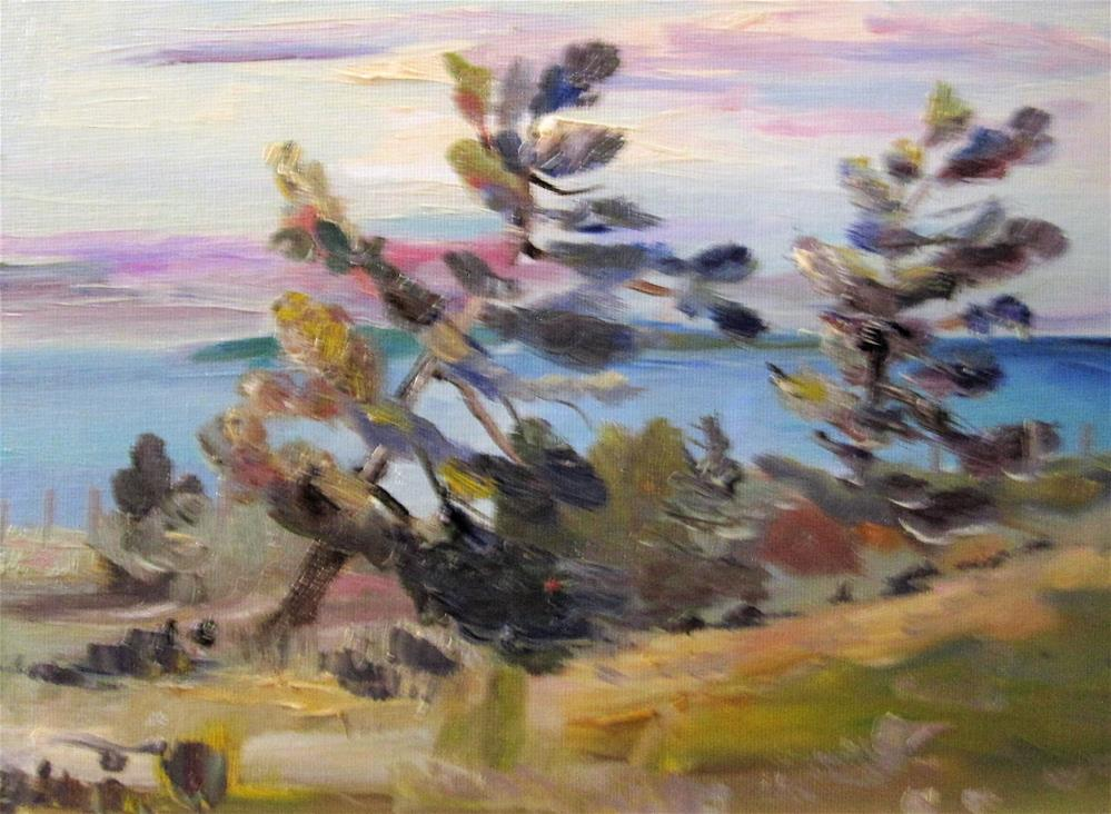 """""""Windy Pines"""" original fine art by Delilah Smith"""
