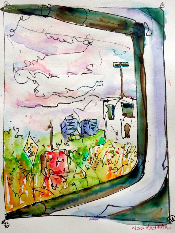 """""""view from the morning train"""" original fine art by Nora MacPhail"""