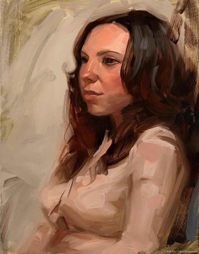 """""""Dusty Rose"""" original fine art by Rob  Rey"""