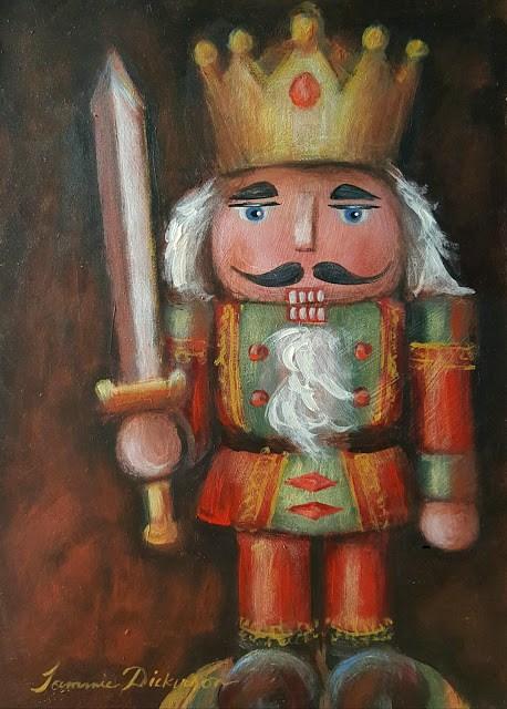 """""""Royal Nutcracker"""" original fine art by Tammie Dickerson"""