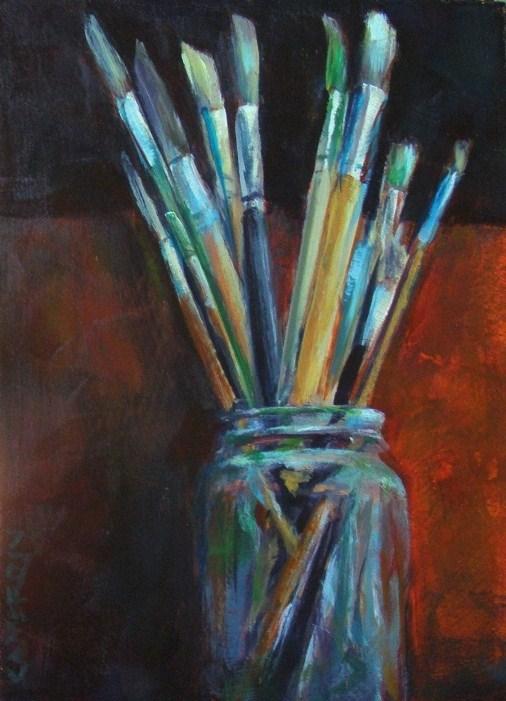 """JAR 'O BRUSHES"" original fine art by Brian Cameron"