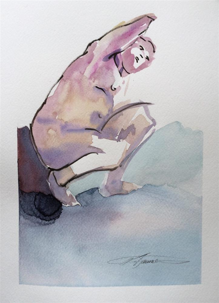 """Life Drawing 8"" original fine art by Nicoletta Baumeister"