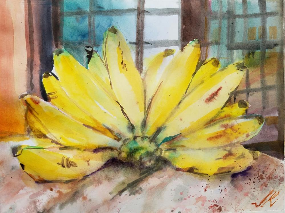 """Banana Ouro"" original fine art by Jean Krueger"