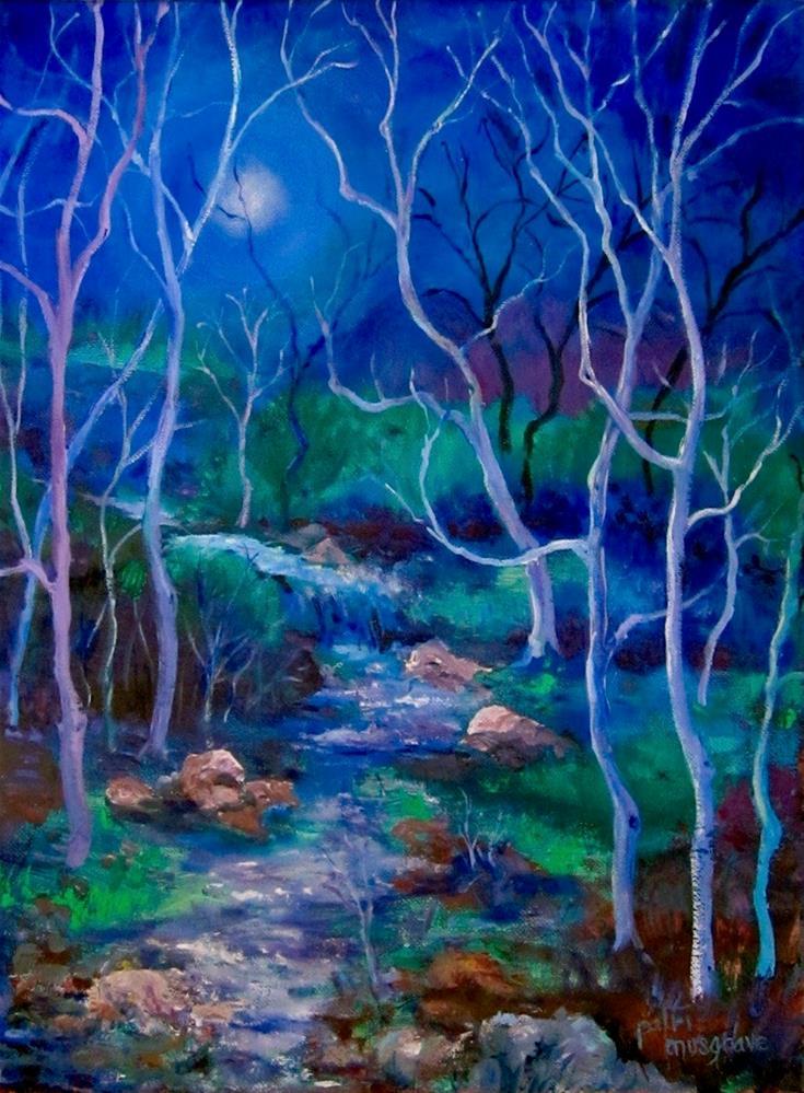 """""""Nocturne in Blue"""" original fine art by Patricia Musgrave"""