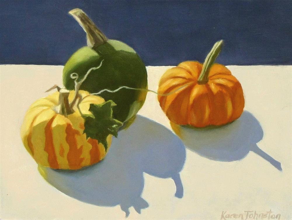 """Mini Pumpkins"" original fine art by Karen Johnston"