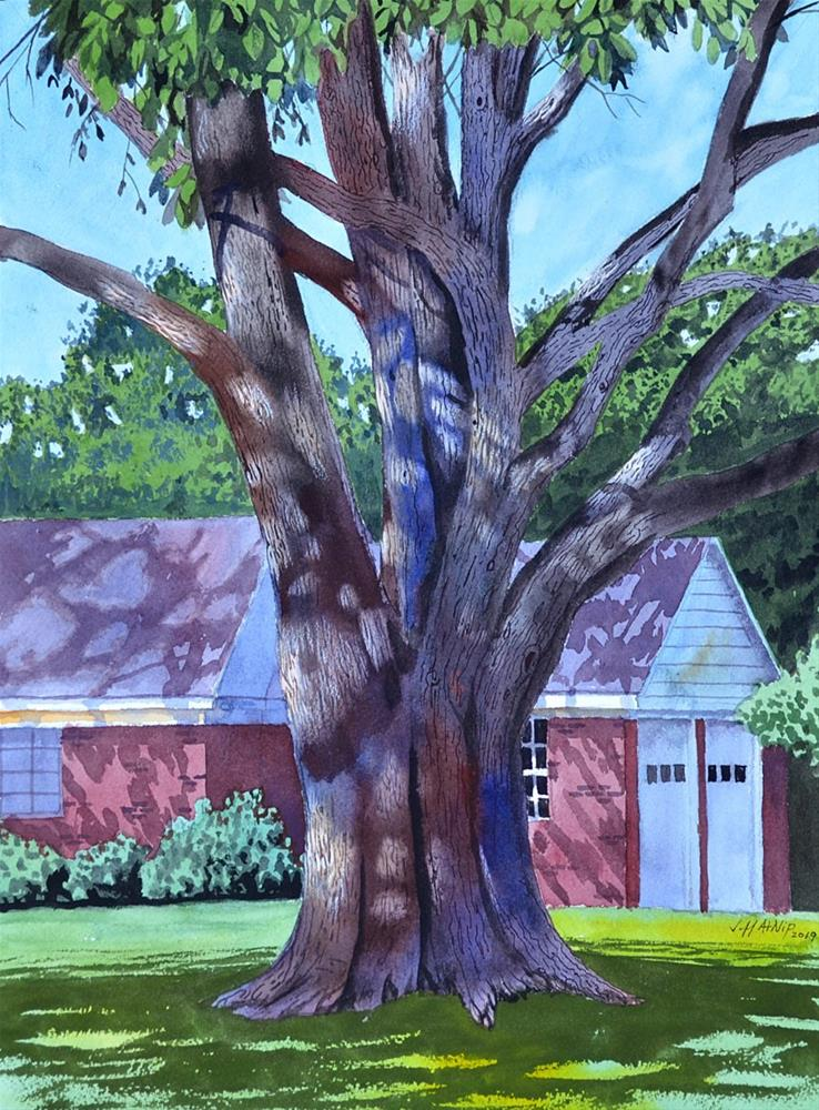 """Neighborhood Tree"" original fine art by Jeff Atnip"