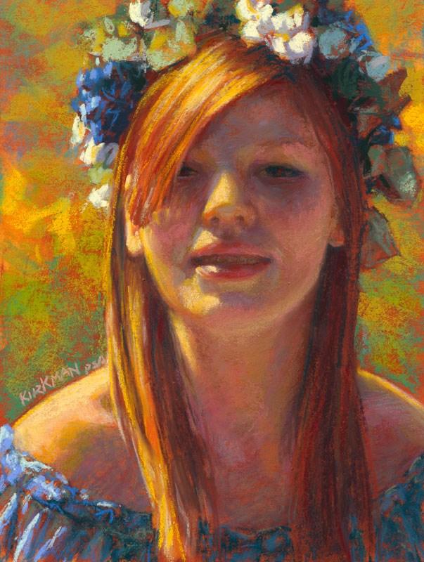 """""""Aileen in Blue"""" original fine art by Rita Kirkman"""
