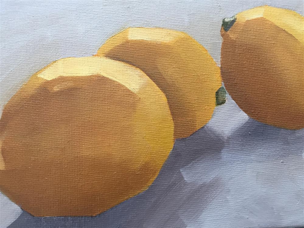 """Theres just somethin about Lemons"" original fine art by vicki Hardesty"