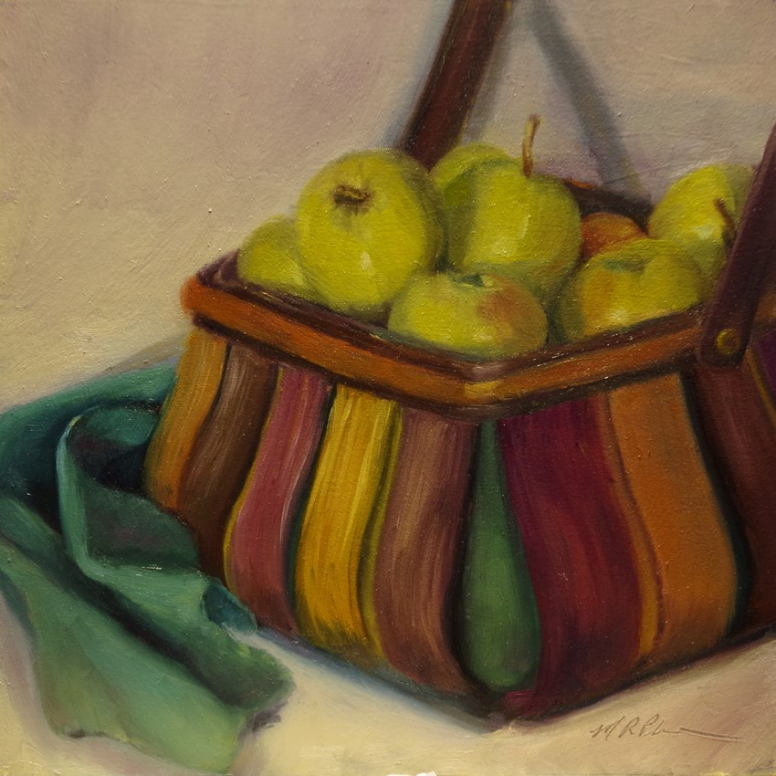 """""""Basket of Gold"""" original fine art by Marilyn R. Place"""
