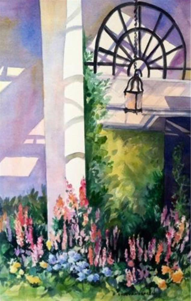 """""""Longwood Conservatory"""" original fine art by Libby Anderson"""