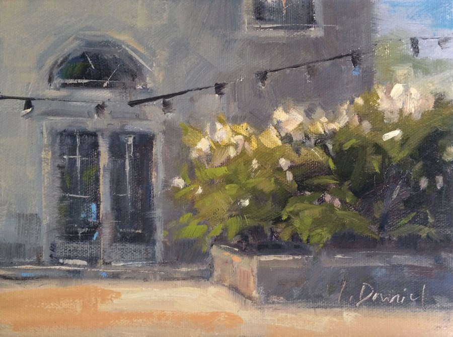 """Courtyard Entrance - Demo"" original fine art by Laurel Daniel"
