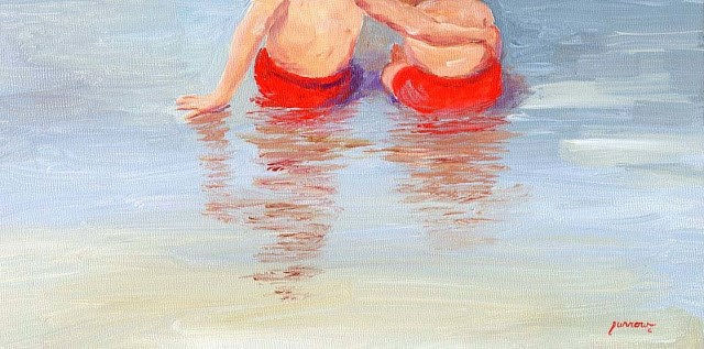 """Day 13 of 30 Days  Beach Butts"" original fine art by Sue Furrow"
