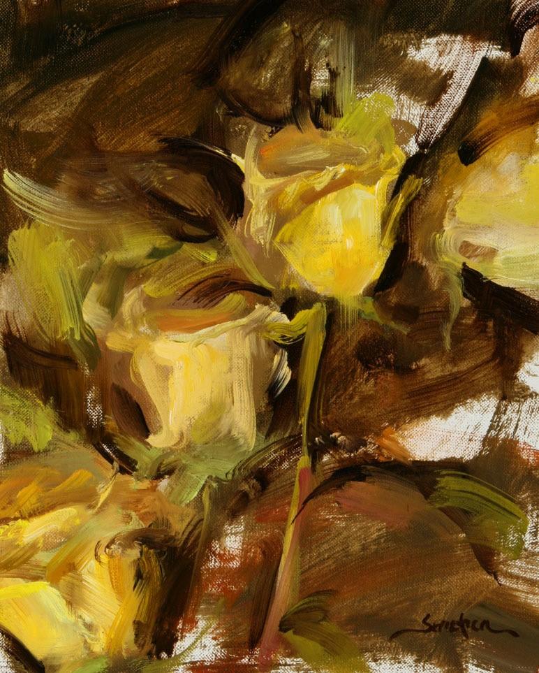 """Yellow Roses "" original fine art by Scott Serafica"