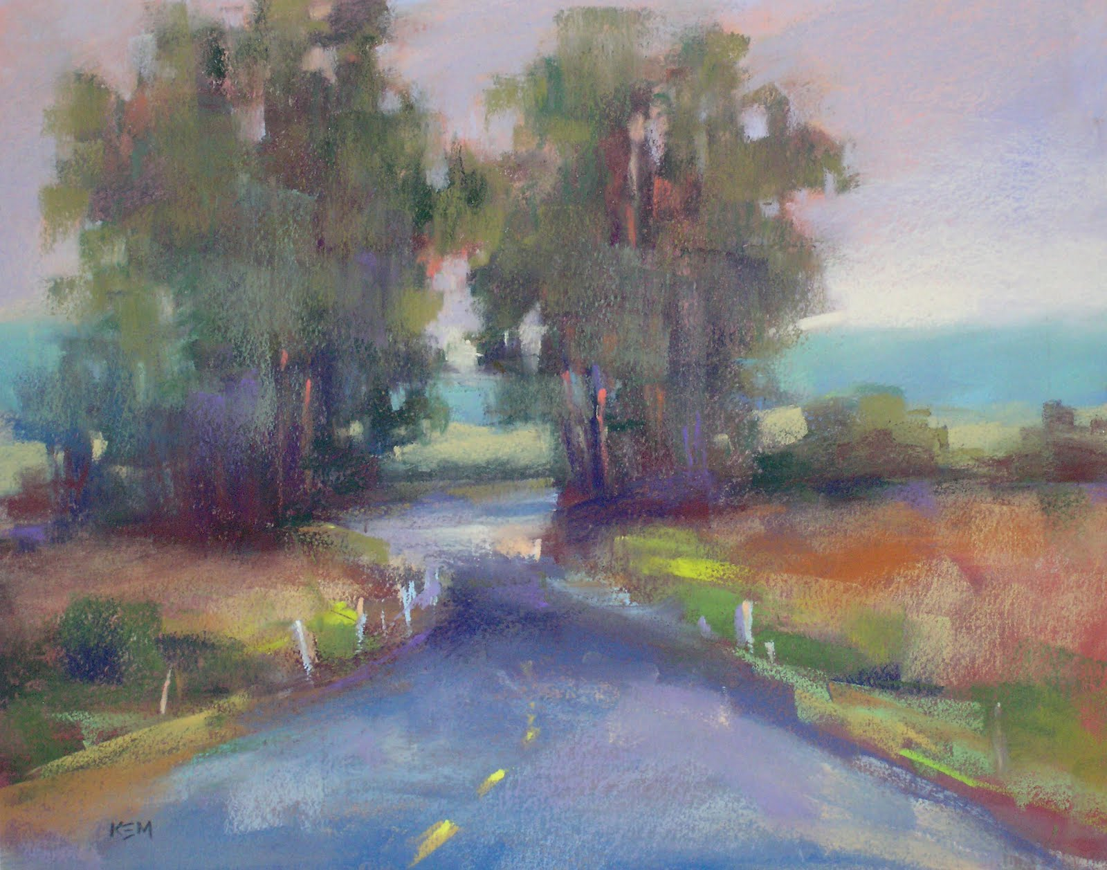 """Winding Roads... A California Landscape"" original fine art by Karen Margulis"