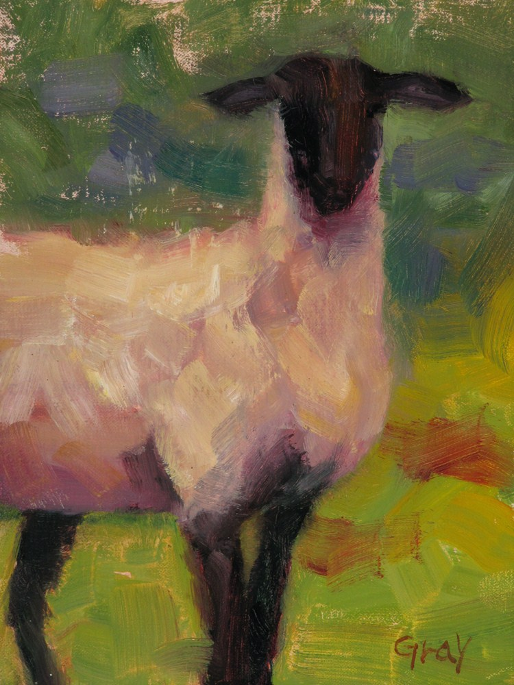 """Summer Sheep"" original fine art by Naomi Gray"