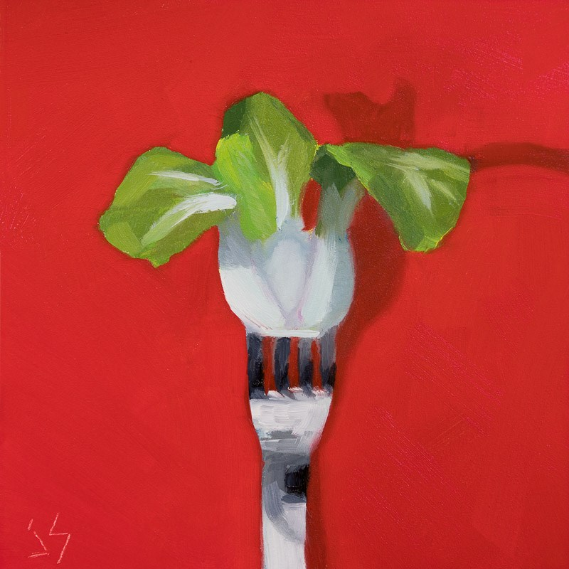"""Stuck on a Fork"" original fine art by Johnna Schelling"