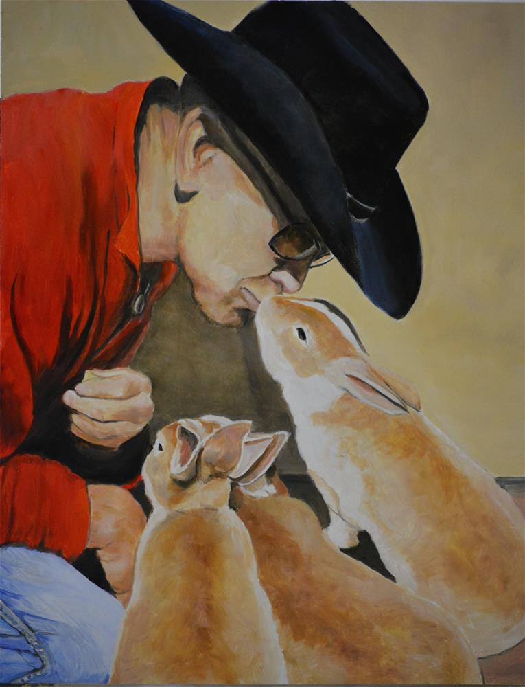 """""""Bunny Affection"""" original fine art by Charlotte Yealey"""