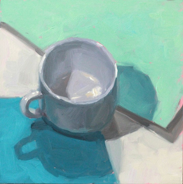 """""""Another White Cup"""" original fine art by Nealy May Riley"""