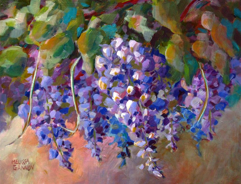 """Wisteria Blooming"" original fine art by Melissa Gannon"