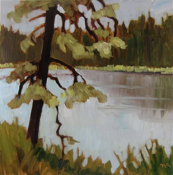 """Old Mossy Tree"" original fine art by Nicki Ault"