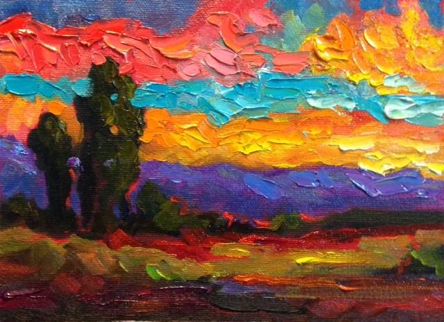 """""""6 summer sunset"""" original fine art by Dee Sanchez"""