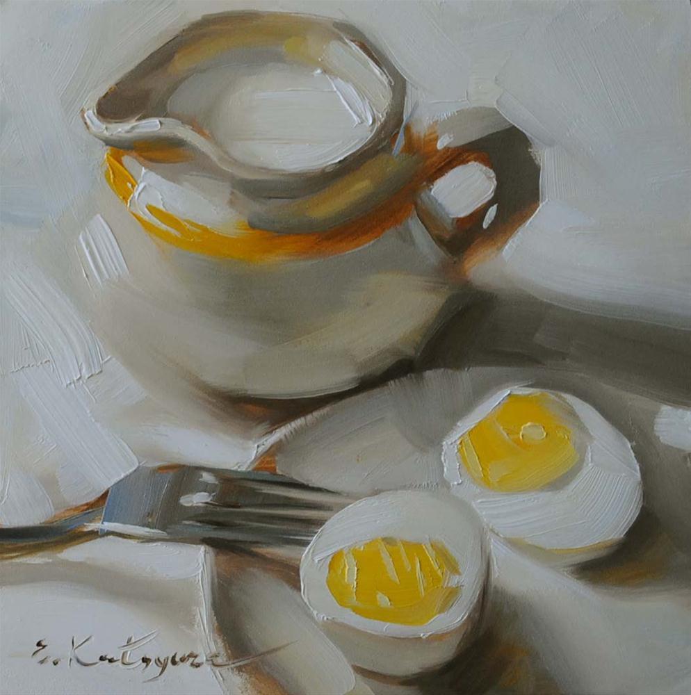 """""""Monday Morning"""" original fine art by Elena Katsyura"""