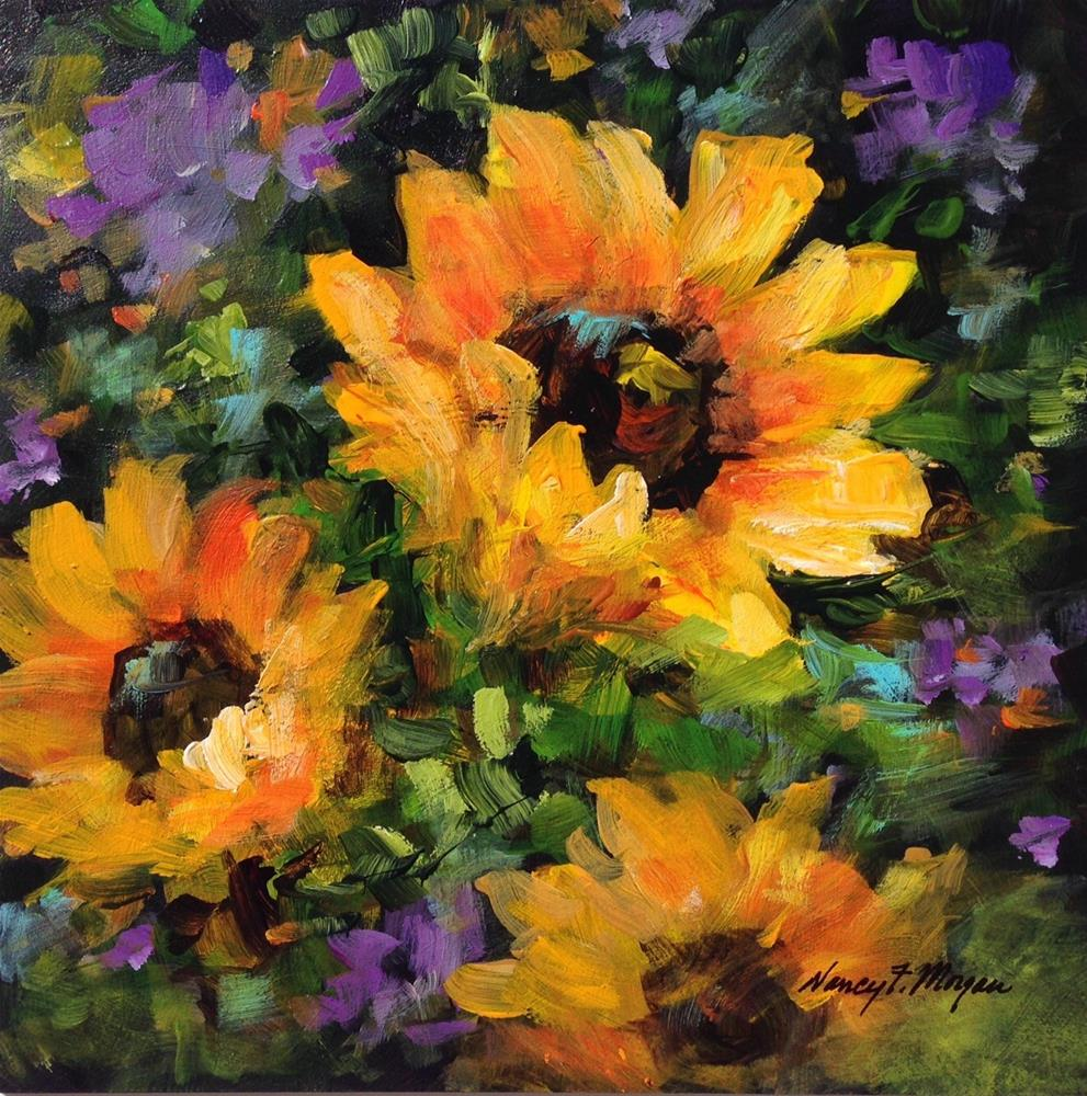 """Sunshine"" original fine art by Nancy F. Morgan"