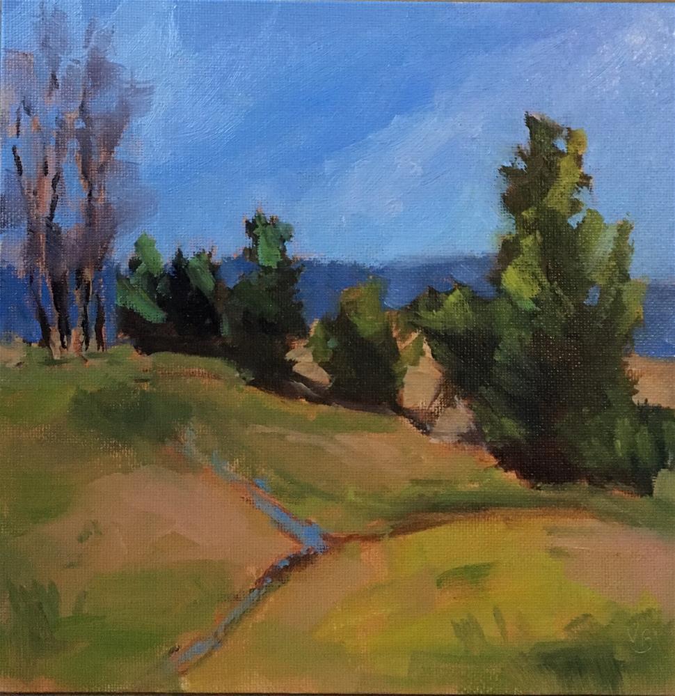 """Tree Line"" original fine art by Victoria  Biedron"
