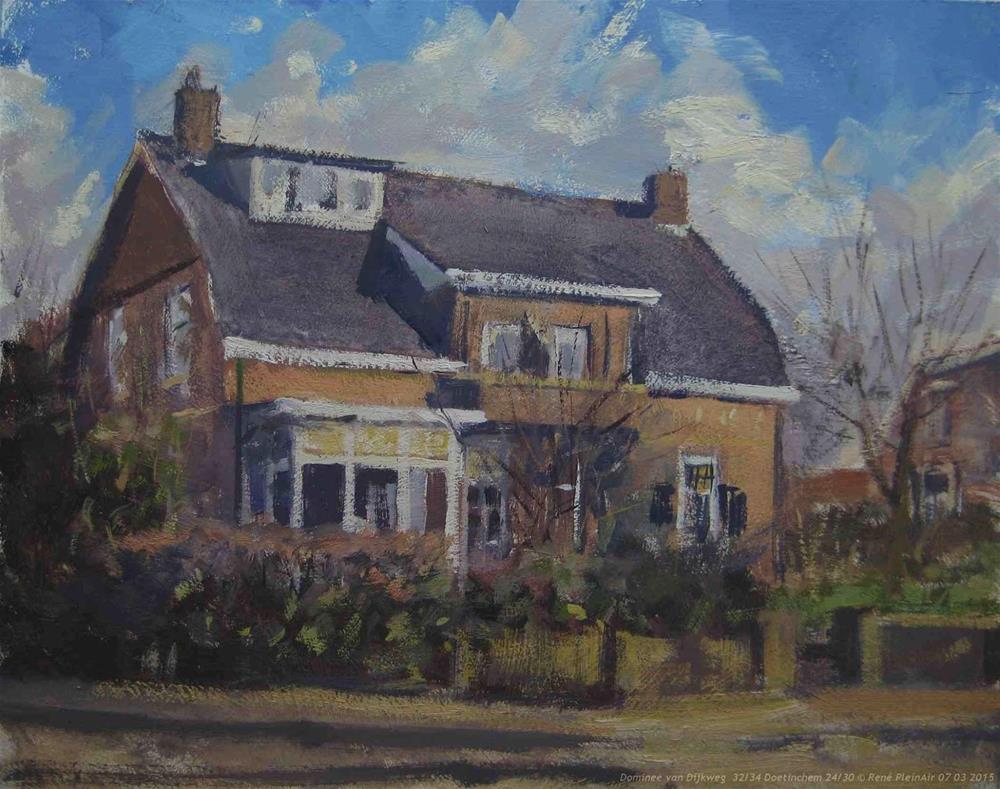 """Dominee van Dijkweg 32/34   Doetinchem, The Netherlands."" original fine art by René PleinAir"