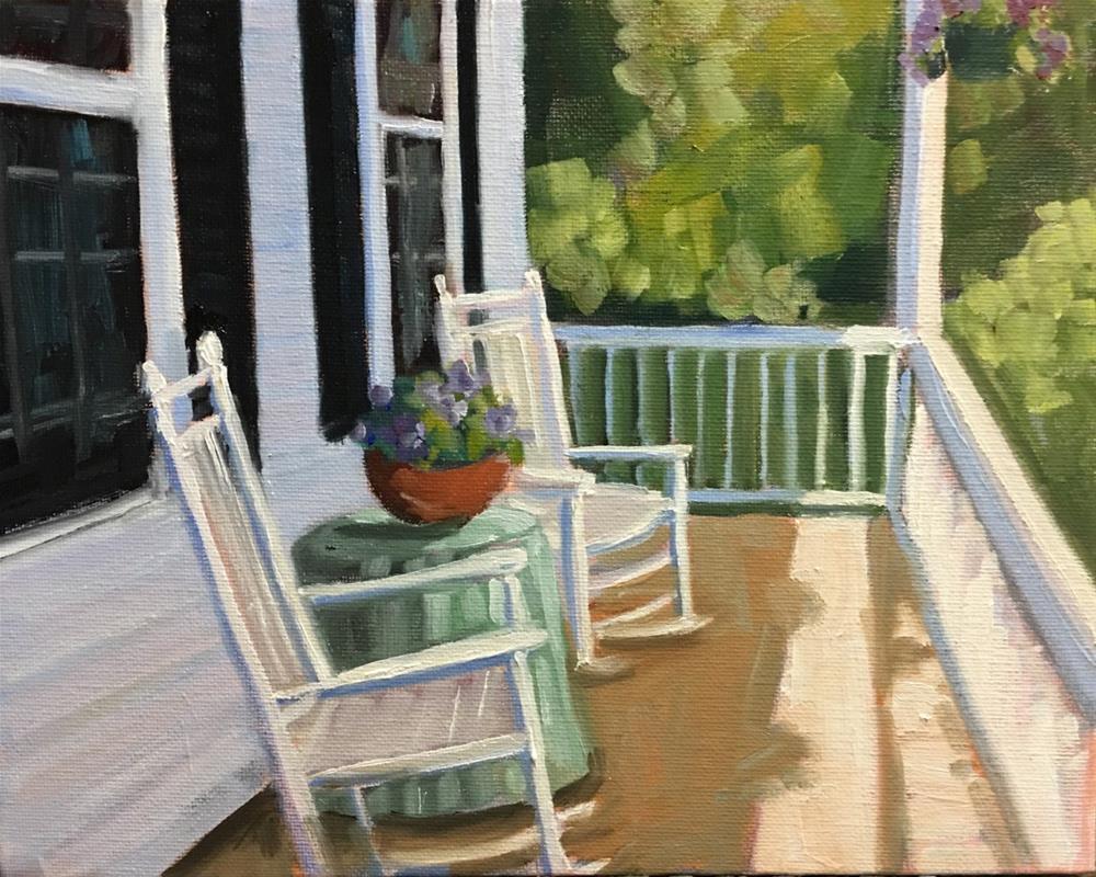 """Summer at Hollie's House"" original fine art by Linda Marino"