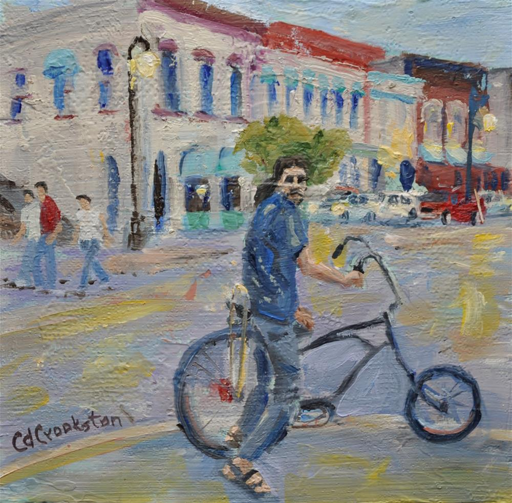 """The Bikeman Challenge"" original fine art by Catherine Crookston"