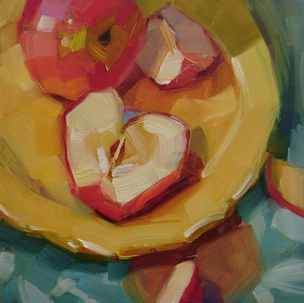 """""""Honeycrisps"""" original fine art by Holly Storlie"""