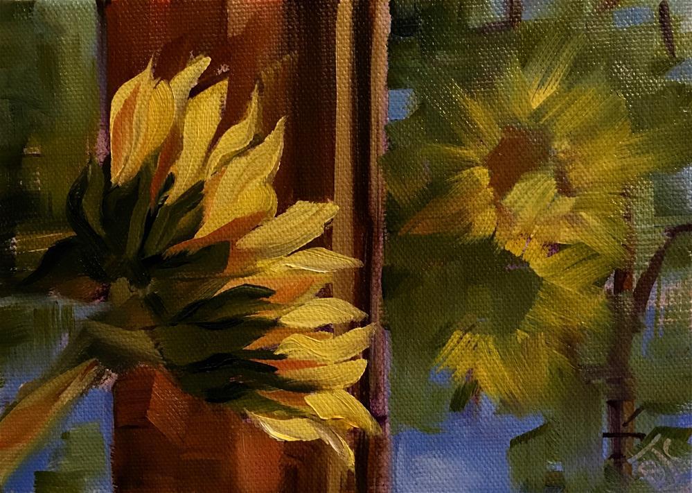 """Good Morning Sunshine"" original fine art by Bobbie Cook"
