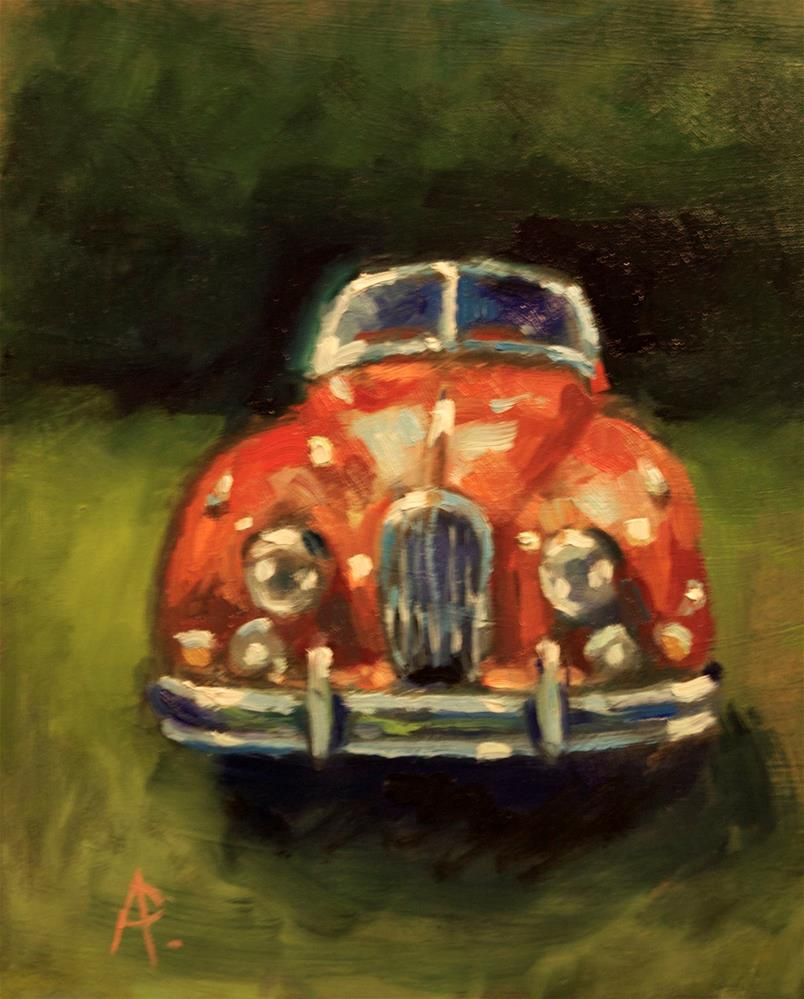 """Jaguar XK130"" original fine art by Andre Pallat"